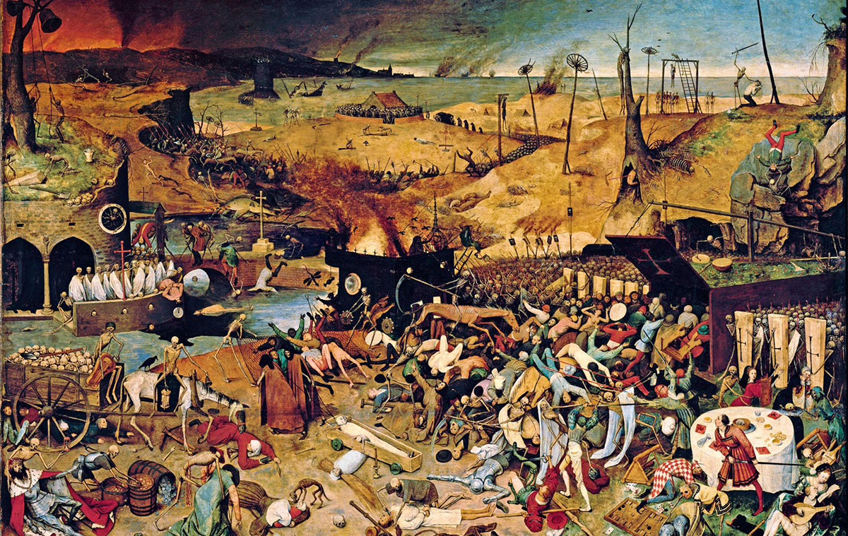 "This 1562 painting, ""The Triumph of Death,"" by Pieter Bruegel the Elder"